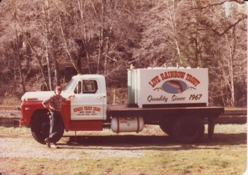 Delivery Truck for Rainbow Trout
